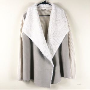 Live and Let Live Taupe Faux Suede Cardigan